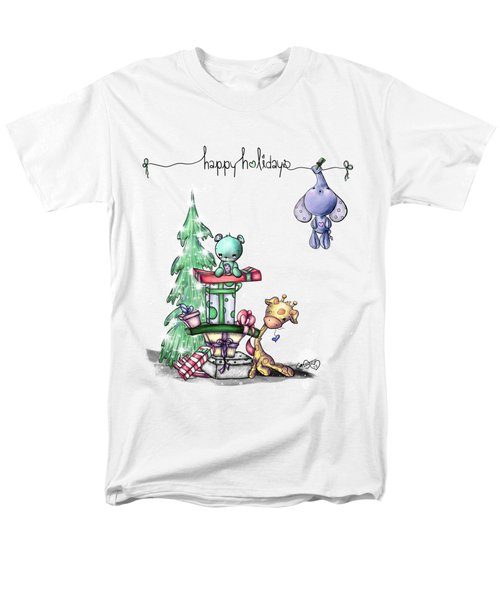 Hanging Around For The Holidays Men's T-Shirt  (Regular Fit) by Lizzy Love