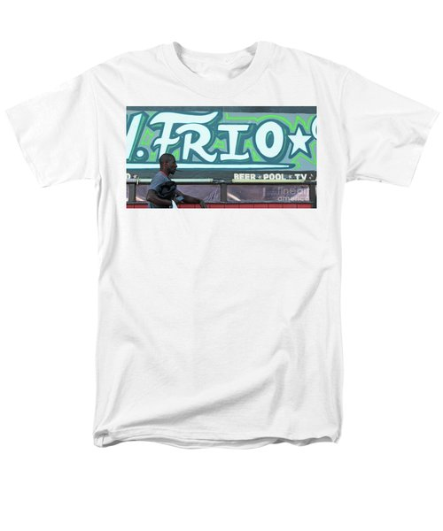 Men's T-Shirt  (Regular Fit) featuring the photograph Hanging Out On Frio Street by Joe Jake Pratt