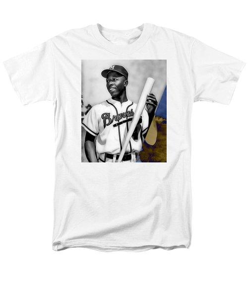 Hank Aaron Men's T-Shirt  (Regular Fit) by Marvin Blaine