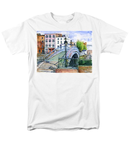 Ha'penny Bridge Dublin Men's T-Shirt  (Regular Fit) by John D Benson