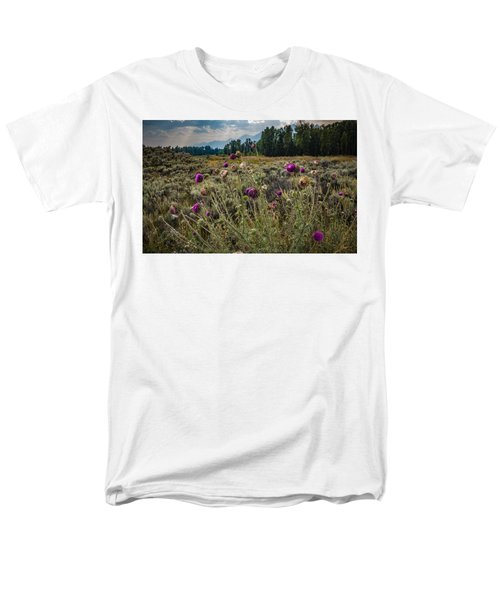 Men's T-Shirt  (Regular Fit) featuring the photograph Happier In The Mountains by Cathy Donohoue
