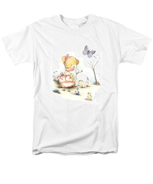 Men's T-Shirt  (Regular Fit) featuring the drawing Happiness by Sorin Apostolescu