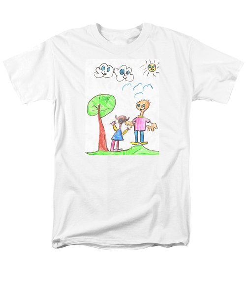 Men's T-Shirt  (Regular Fit) featuring the drawing Happy Faces by Maciek Froncisz