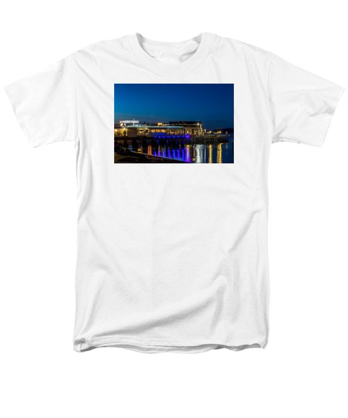 Men's T-Shirt  (Regular Fit) featuring the photograph Harbor Lights During Blue Hour by Rob Green