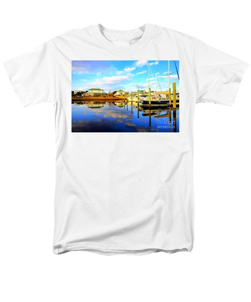 Men's T-Shirt  (Regular Fit) featuring the photograph Harbour Reflections by Shelia Kempf