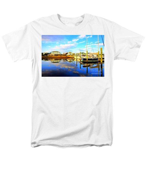 Harbour Reflections Men's T-Shirt  (Regular Fit) by Shelia Kempf