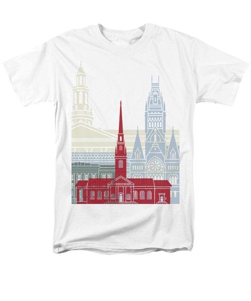 Harvard Skyline Poster Men's T-Shirt  (Regular Fit) by Pablo Romero