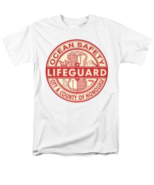 Hawaii Lifeguard Logo Men's T-Shirt  (Regular Fit)