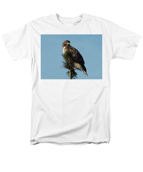 Hawk Atop Tree Men's T-Shirt  (Regular Fit) by Karen Molenaar Terrell