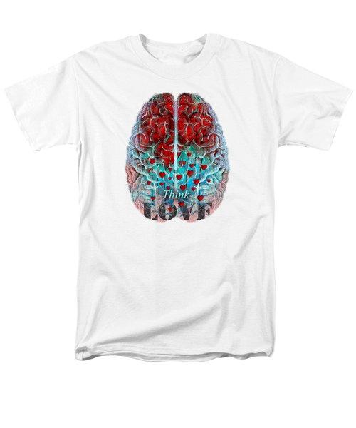Heart Art - Think Love - By Sharon Cummings Men's T-Shirt  (Regular Fit) by Sharon Cummings