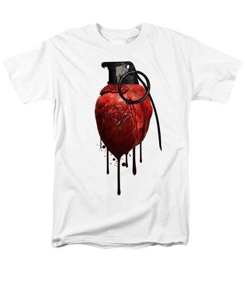 Heart Grenade Men's T-Shirt  (Regular Fit)