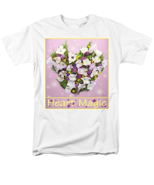 Men's T-Shirt  (Regular Fit) featuring the digital art Heart Magic by Lise Winne