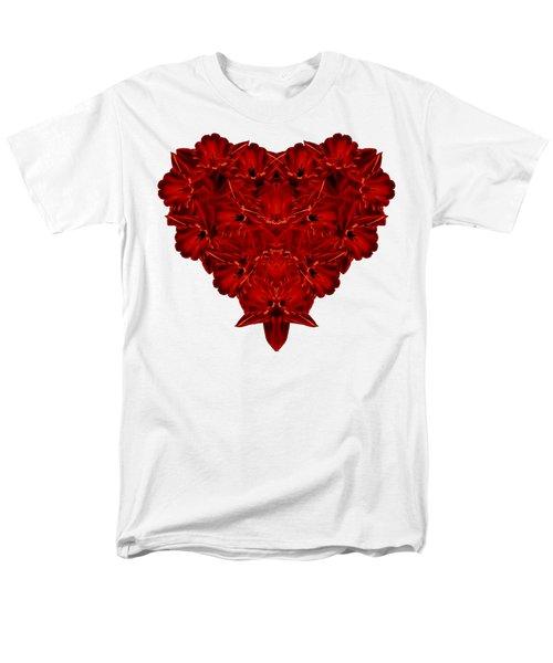 Heart Of Flowers T-shirt Men's T-Shirt  (Regular Fit) by Edward Fielding