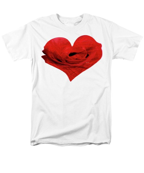 Heart Sketch Men's T-Shirt  (Regular Fit) by Rafael Salazar