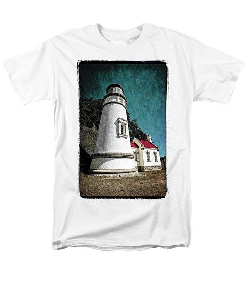 Hecitia Head Lighthouse Men's T-Shirt  (Regular Fit) by Jeffrey Jensen