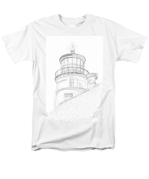 Hecitia Head Lighthouse Sketch Men's T-Shirt  (Regular Fit)