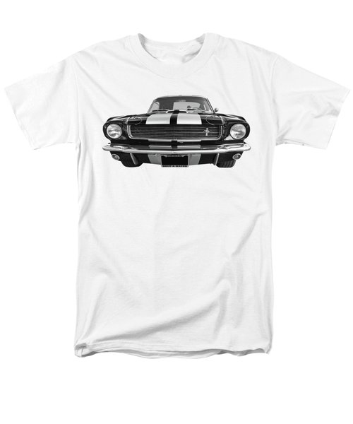 Men's T-Shirt  (Regular Fit) featuring the photograph Hertz Rent A Racer Mustang 1966 Black And White by Gill Billington