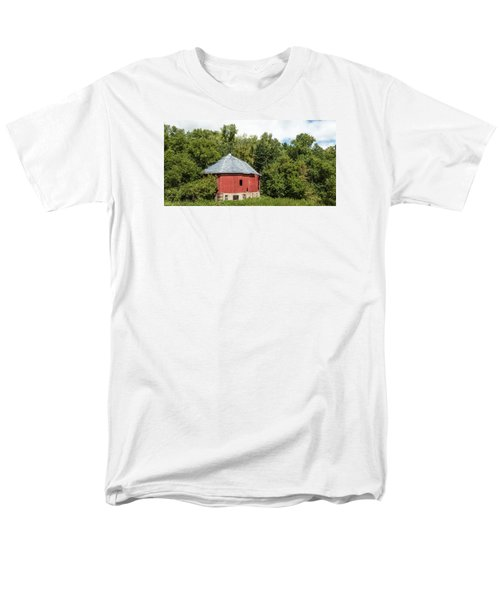 Men's T-Shirt  (Regular Fit) featuring the photograph Hexagon Barn by Dan Traun