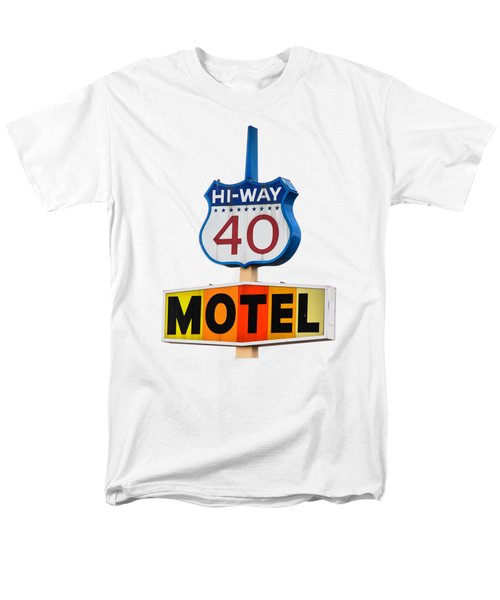Hi-way 40 Motel Men's T-Shirt  (Regular Fit) by Rick Mosher
