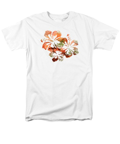 Hibiscus Flowers Men's T-Shirt  (Regular Fit) by Art Spectrum