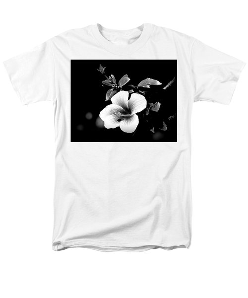 Men's T-Shirt  (Regular Fit) featuring the photograph Hibiscus In The Dark by Lori Seaman