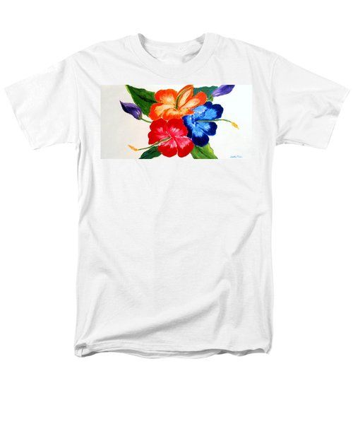 Men's T-Shirt  (Regular Fit) featuring the painting Hibiscus by Jamie Frier