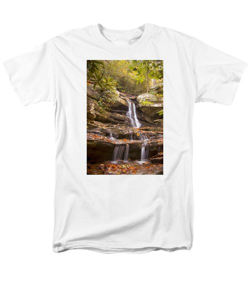 Hidden Falls Of Danbury, Nc Men's T-Shirt  (Regular Fit) by Bob Decker