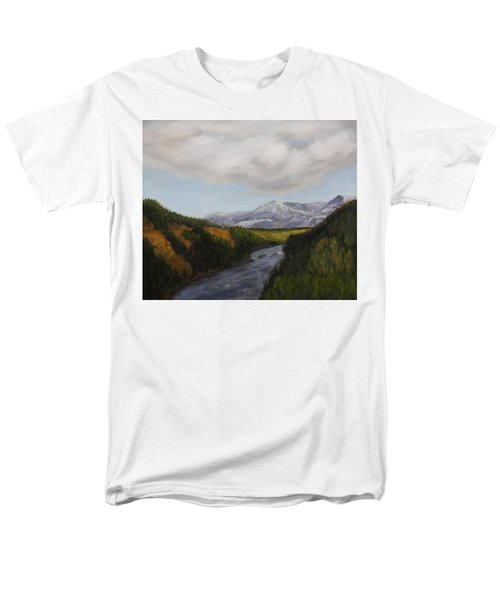 Hidden Mountains Men's T-Shirt  (Regular Fit) by Alan Mager