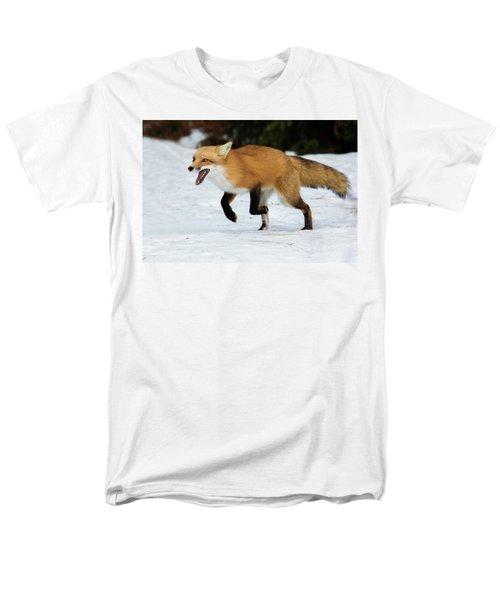 Men's T-Shirt  (Regular Fit) featuring the photograph High Speed Fox by Mircea Costina Photography