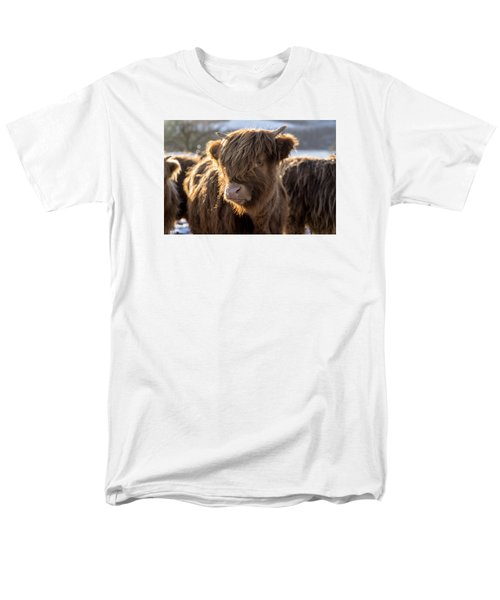 Highland Baby Coo Men's T-Shirt  (Regular Fit) by Jeremy Lavender Photography