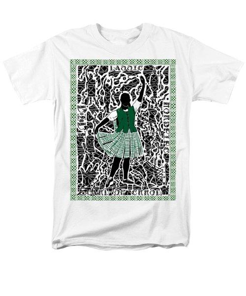 Men's T-Shirt  (Regular Fit) featuring the digital art Highland Dancing by Darren Cannell