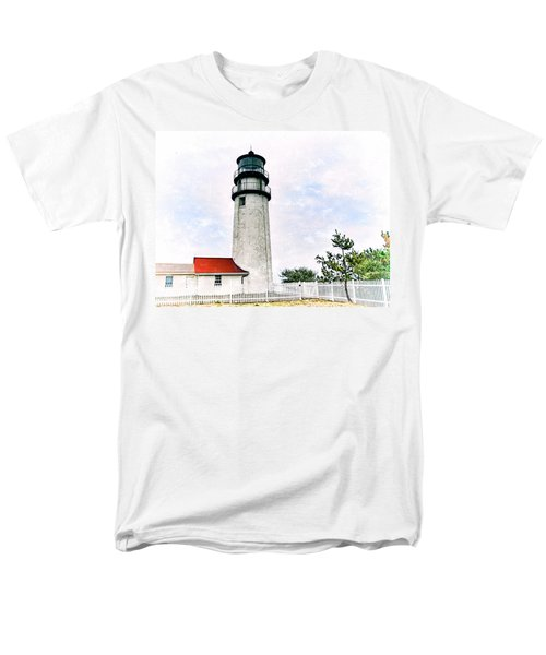 Men's T-Shirt  (Regular Fit) featuring the photograph Highland Lighthouse Cape Cod by Marianne Campolongo
