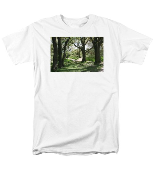 Men's T-Shirt  (Regular Fit) featuring the photograph Hill 60 Cratered Landscape by Travel Pics