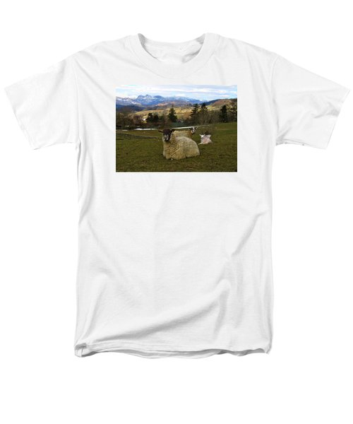 Men's T-Shirt  (Regular Fit) featuring the photograph Hill Sheep by RKAB Works
