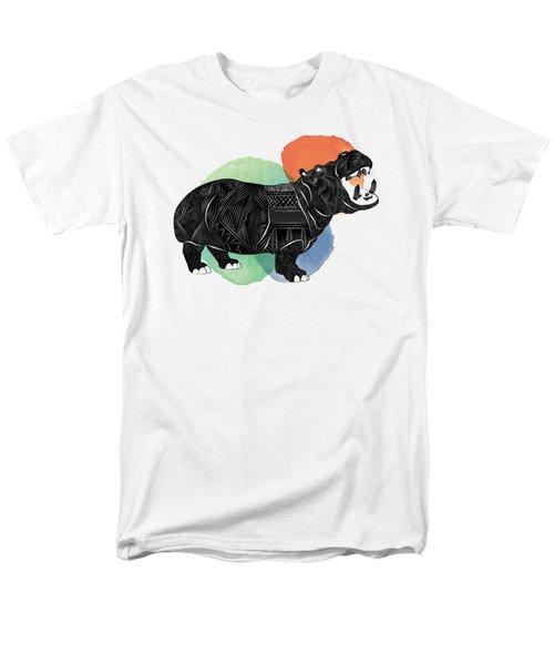 Hippo Men's T-Shirt  (Regular Fit) by Serkes Panda