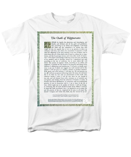 Hippocratic Oath, 1938 Men's T-Shirt  (Regular Fit) by Science Source