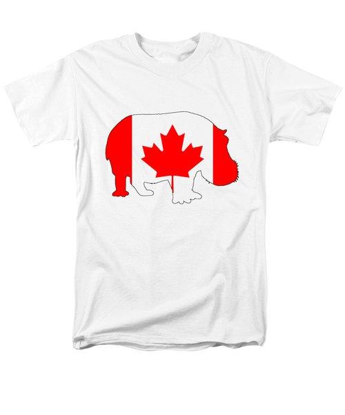Hippopotamus Canada Men's T-Shirt  (Regular Fit) by Mordax Furittus