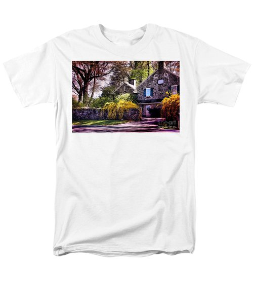 Men's T-Shirt  (Regular Fit) featuring the photograph Historic 1889 Home by Polly Peacock