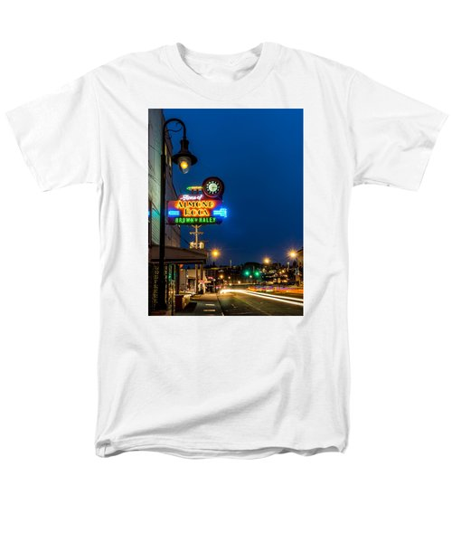Men's T-Shirt  (Regular Fit) featuring the photograph Historic Almond Roca Co. During Blue Hour by Rob Green
