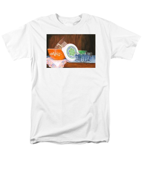 Men's T-Shirt  (Regular Fit) featuring the painting History Of Pyrex by Lynne Reichhart