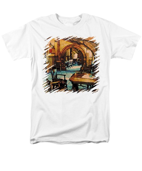 Hobbit Writing Nook T-shirt Men's T-Shirt  (Regular Fit) by Kathy Kelly