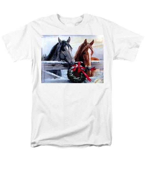 Holiday Barnyard Men's T-Shirt  (Regular Fit) by Judyann Matthews