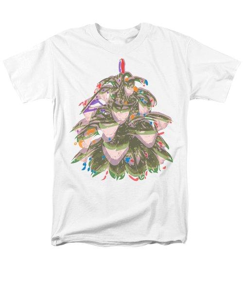 Holiday Green Cone Men's T-Shirt  (Regular Fit)