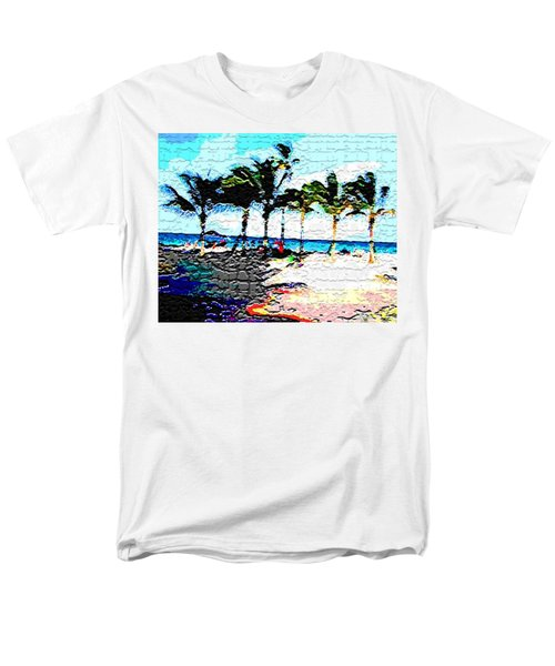 Hollywood Beach Fla Digital Men's T-Shirt  (Regular Fit) by Dick Sauer