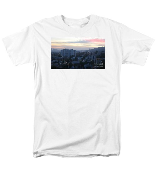 Men's T-Shirt  (Regular Fit) featuring the photograph Hollywood Sunset by Cheryl Del Toro