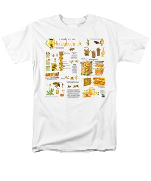 Honey Bees Infographic Men's T-Shirt  (Regular Fit) by Gina Dsgn