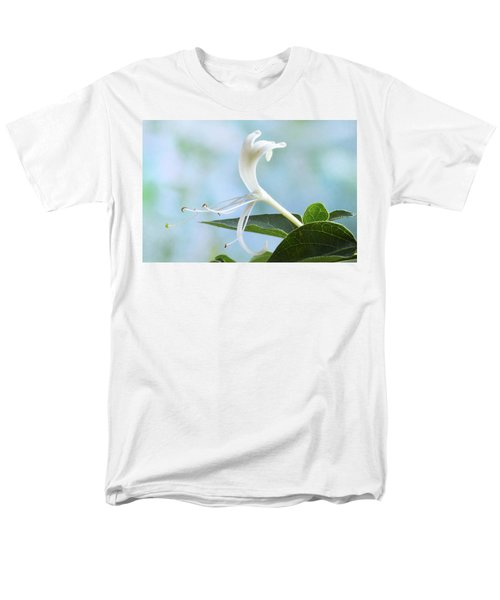 Men's T-Shirt  (Regular Fit) featuring the photograph Honeysuckle Portrait. by Terence Davis