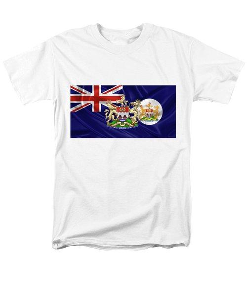 Hong Kong - 1959-1997 Historical Coat Of Arms Over British Hong Kong Flag  Men's T-Shirt  (Regular Fit) by Serge Averbukh