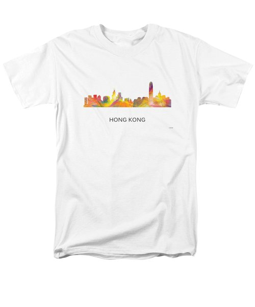 Hong Kong China Skyline Men's T-Shirt  (Regular Fit) by Marlene Watson
