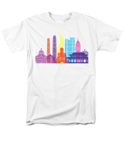 Hong Kong V2 Skyline Pop Men's T-Shirt  (Regular Fit) by Pablo Romero